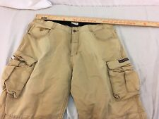 Adult Men's State Property Brand Tan Cargo Pocket Cotton Jeans 32193