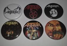 6 Anthrax button badges Thrash Metal fistfull of Amung the Living  Stomp 442