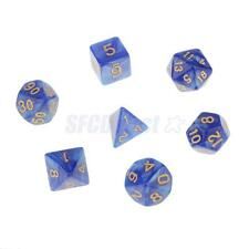 Bright Colored Multisided Dice Dungeons & Dragons RPG Game Dices Set - Blue