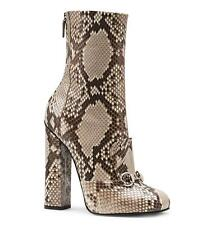 NEW 2450 GUCCI LILLIAN PYTHON ANKLE BOOTS BOOTIES IT 38 - US 8