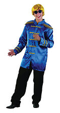 Mens Blue Sergeant Pepper The Beetles Jacket 1960's Music Fancy Dress Costume