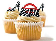✿ 24 Comestibles Papel De Arroz Cup Cake, aderezos, Pastel SFD-Zebra-Zapatos Y Bolso ✿