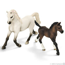 *NEW* SCHLEICH 13761 13762 Arabian Mare & Foal Horse Group - Set of 2