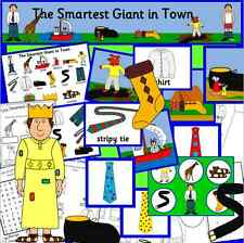 THE SMARTEST GIANT IN TOWN - teaching story resource on CD- EYFS, KS1, clothes