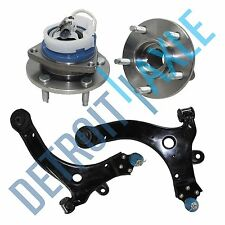 2 Front Lower Control Arm & Ball Joint + 2 Wheel Hub Bearing Assembly w/ ABS