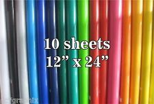 "10 sheets 12"" x 24"" Oracal 651 Craft Adhesive Vinyl Silhouette Cricut Scrapbook"