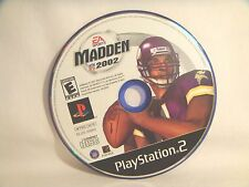 Madden NFL 2002 (Sony PlayStation 2, 2001) - disc only