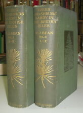 ARBORICULTURE TREES AND SHRUBS HARDY IN THE BRITISH ISLES II TOMES W J BEAN 1919