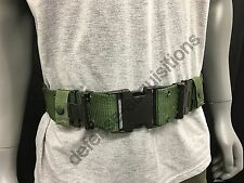 US Military WEB Belt Pistol Utility Belt Duty Belt LC-2 Quick Release MED VGC