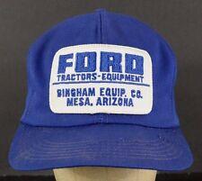 #2 Ford Tractors Equipment Mesa Arizona Patch Blue Baseball Hat Cap Adjustable