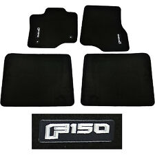 OEM NEW 2015-2016 Ford F-150 CREW CAB Carpet Floor Mats BLACK Embroidered Logo