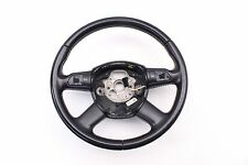 06 - 11 AUDI A6 STEERING WHEEL 4 SPOKE LEATHER BLACK NON HEATED OEM A8 Q7 S6