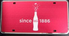 Coca-Cola License Plate Mirrored NEW