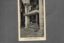 Kent Canterbury Cathedral Tomb of Edward the black prince tucks card up A044