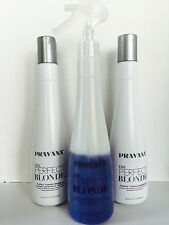 PRAVANA THE PERFECT BLONDE PURPLE TONING COMBO-SHAMPOO, CONDITIONER & SPRAY