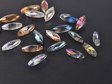 New 10pcs 22mm Faceted Glass Crystal Charms Dagger Teardrop Pendant Beads Mixed