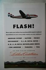 DICTAPHONE ELECTRONIC LOCKHEED CONSTELLATION AIRPLANE VINTAGE  OLD  WWII AD 1945