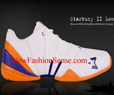 New Authentic Starbury 2 White Blue Orange Low Top Athletic Shoes Size 9.5