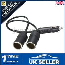 DC 12V Car Twin Double Cigarette Lighter Socket Extension Lead Adaptor Splitter
