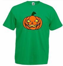 Evil Scary Pumpkin Lantern Party T Shirt Costume Childrens Kids