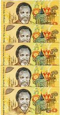 LOT Papua New Guinea, 5 x 50 Kina, ND (1989), P-11, UNC   Scarce First Issue