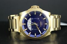 DIESEL Men Blue Dial Gold-tone Brave Men Edition Watch DZ1663