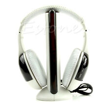 5 in 1 Hi-Fi Wireless Headphones Earphone Headset for PC Laptop TV FM Radio MP3