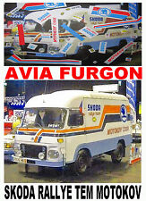 DECAL 1/43 AVIA FURGON SKODA RALLYE TEM MOTOKOV (01)