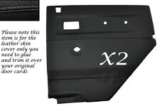 BLACK STITCH 2X REAR DOOR CARDS LEATHER COVERS FITS LAND ROVER DEFENDER 90 110