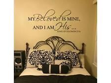 MY BELOVED IS MINE Song of Solomon Vinyl Wall Decal Lettering Words Religious