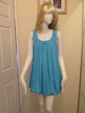 Vestido De Verano QED London-Azul Puffball Mini Tamaño Mediano-cáscara poliéster 100%