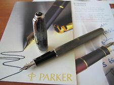 Parker Sonnet Chiselled Carbon 18kt Au Fine nib Fountain pen Mint