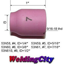 WeldingCity 5 Ceramic Gas Lens Cups 53N61 (#7) for TIG Welding Torch 9/20/25