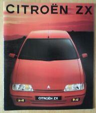 CITROEN ZX range 1991 1992 UK Market prestige sales brochure