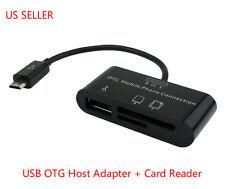 Micro USB OTG Hub SD Card Reader Adapter Phone Tablet Samsung Galaxy S3 S4 Tab