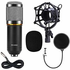 QIBOX Studio Recording Equipment BM-800 Pro Condenser Microphone Mic for Studio