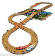 NEW Dukes of Hazzard Curvehuggers Slot Car Race Set w/Jumps 14' SRS259 autoworld
