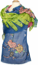 Pashmina Schal, neue Kollektion bestickt scarf, stole embroidery, embroidered