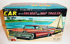 DAIWA / YAMADA 1958 PLYMOUTH 4-DOOR HARDTOP + SAILBOAT + TRAILER --> BOX ONLY