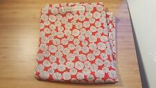 VTG Red Silk fabric 39.5 x 2.5 YARDS Floral Print Design Purchased in Hong Kong