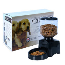 5.5L Automatic Program Digital Display Pet Cat Dog Feeder Food Bowl Dispenser