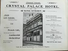 Antique 1903 CRYSTAL PALACE HOTEL JERSEY CHANNEL ISLANDS Advertisement Advert