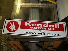 Vintage looking Kendall Motor oil the 2000 mile oil metal sign 30x8 inch