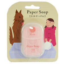 [CHARLEY] Portable Pocket Paper Soap for Outdoor Travel Camping (ROSE) 50pcs