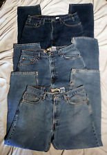 Lot of 3 pairs LEVI'S 505 Reg fit 37x30 Straight leg denim Jeans -Tag sz 38/30