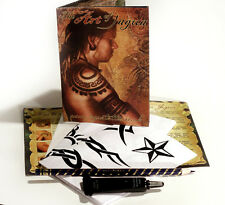 NEW JAGUA Henna Black Temporary Tattoo STARTER KIT tk