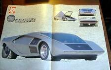 "AUTO OGGI 1989 - STRATOS BERTONE MICHAEL JACKSON CAR FILM ""MOON WALKER"" POSTER"