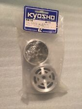 Kyosho RM-14 Front Wheel Set Chrome Plated Vintage RC Part