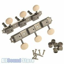 "Gotoh FACTORY AGED RELIC Nickel 3x3 ""On a Plate"" Vintage Style Tuners for Gibson"