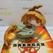 Bakugan Naga Dragonoid Tan & Gray Dual Attribute B2 Bakuswap 450G & cards